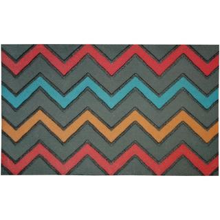 Outdoor Zig Zig Bright Doormat (1'6 x 2'6)