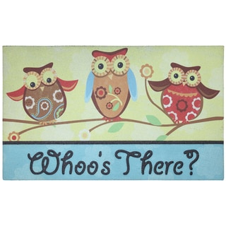 Outdoor Three Owls Doormat (1'6 x 2'6)