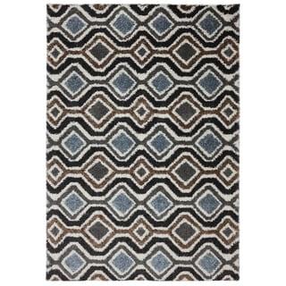 American Rug Craftsmen Augusta Omaha Grey Black Rug (3'4 x 5'6)