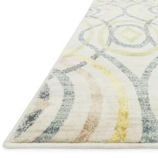 Skye Monet Ivory/ Multi Rug (3'9 x 5'2)