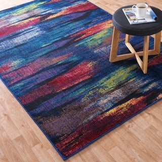 Skye Monet Peacock Rug (5'2 x 7'7)