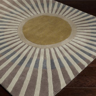 Gregory Sun Rays Hand-tufted Wool Area Rug (5' x 7'6)