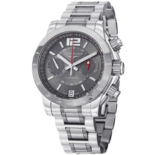 Longines Men's L36674067 'Admiral' Grey Dial Stainless Steel Chronograph Watch