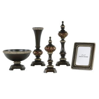 Signature Designs by Ashley Rosemary Bronze/ Silver 5-piece Table Top Set