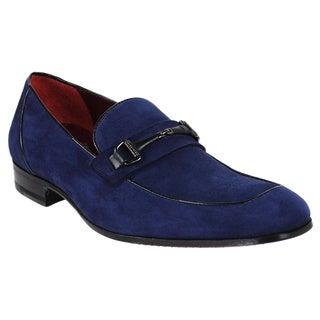 Mezlan Men's 'Poli 5439-1' Blue Italian Leather Loafers
