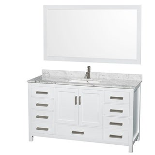 Wyndham Collection Sheffield 60-inch Single White Vanity