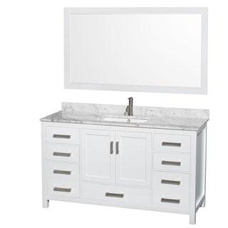 Wyndham Collection Sheffield 60-inch Single White Vanity