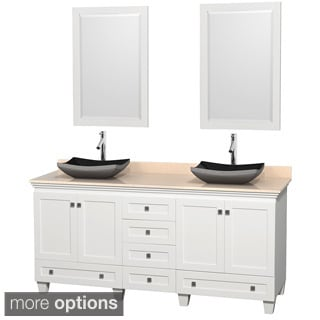 Wyndham Collection Acclaim White 72-inch Double Vanity