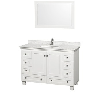 Wyndham Collection Acclaim 48-inch Single White Vanity