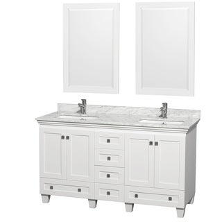 Wyndham Collection Acclaim White 60-inch Double Vanity