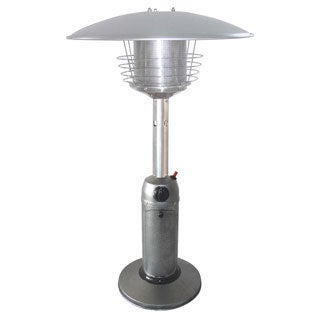 AZ Patio Heaters Portable Silver Hammered Finish Table Top Heater