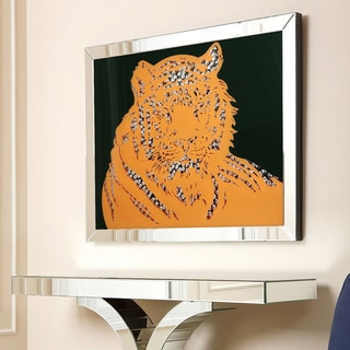 Abbyson Living Tiger Crystal Wall Mirror
