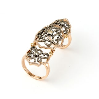 Neda Behnam 18k Rose Gold 1 5/8ct TDW Diamond Knuckle Ring