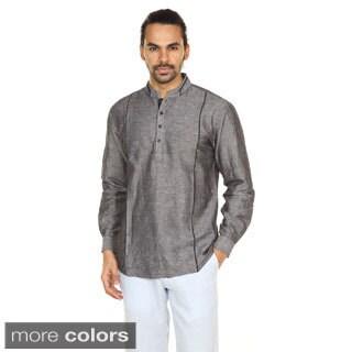 In-Sattva Anita Dongre Men's Double Mandarin Collar Pullover Tunic (India)