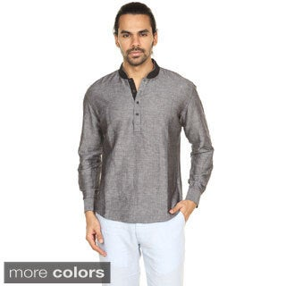 In-Sattva Anita Dongre Men's Embellished Mandarin Collar Pullover Tunic (India)
