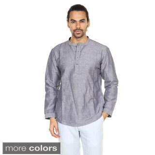 In-Sattva Anita Dongre Men's Chambrey Mandarin Collar Pullover Tunic (India)