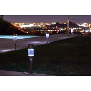 Pure Garden Outdoor Sleek Solar Lights (Set of 6)