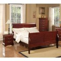 American Lifestyle Louis Philippe II Cherry Sleigh Bed