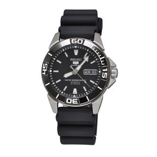 Seiko 5 Men's SNZE19K1 Black Sports Watch