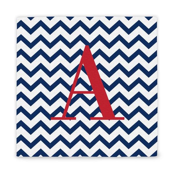Personalized Chevron Pattern Wrapped Canvas