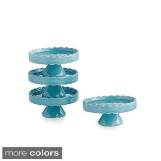 Scallop (Set of 4) Cup Cake Pedestal Plates