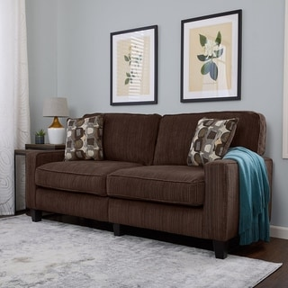 Serta San Paolo Collection Mink Brown Fabric Sofa