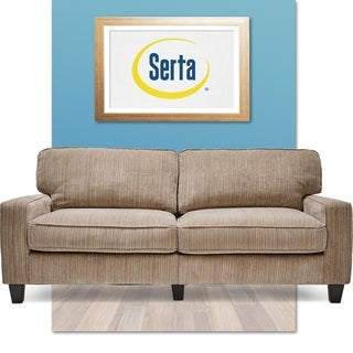 Serta RTA Santa Cruz Collection 73-inch Platinum Fabric Sofa