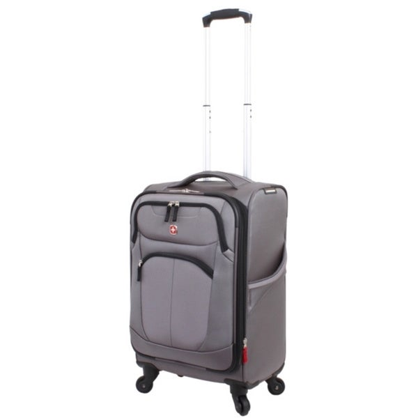 Wenger NeoLite Plus 20-inch Grey Carry On Spinner Upright Suitcase
