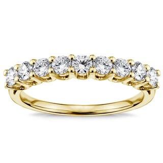14k Yellow Gold 3/4ct TDW Diamond V-prong Wedding Band (F-G, SI1-SI2)