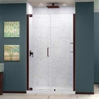 Dreamline Elegance 49.25 - 51.25 in. W x 72 in. H Frameless Pivot Shower Door