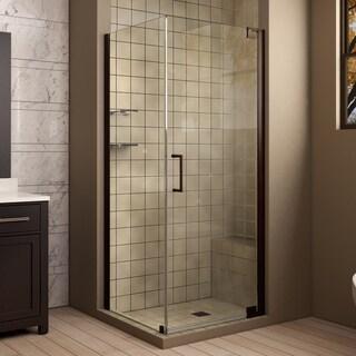 Dreamline Elegance 34 in. D x 34 in. W x 72 in. H Frameless Pivot Shower Enclosure