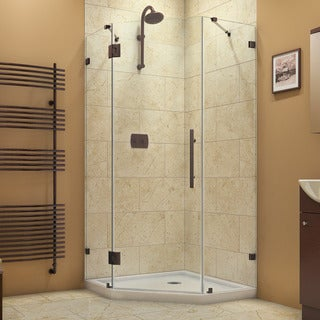 Dreamline PrismLux 36.3125 in. D x 36.3125 in. W x 72 in. H Frameless Hinged Shower Enclosure