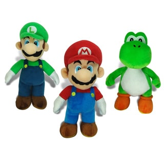 Super Mario Brothers Large Plush Collector's Bundle
