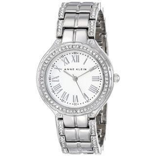 Anne Klein Women's AK-1507SVSV Swarovski Crystal Accented Silvertone Watch
