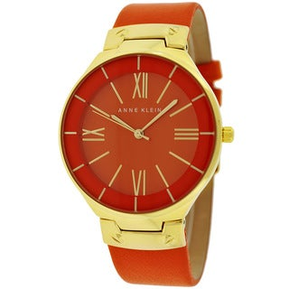 Anne Klein Women's AK-1612OROR Classic Orange and Goldtone Watch
