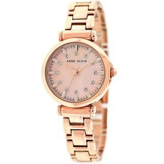 Anne Klein Women's AK-1622RMRG Rosetone Bracelet Watch