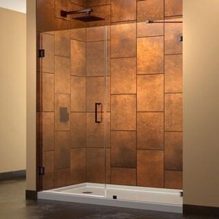 Dreamline UnidoorLux 58 in. W x 72 in. H Frameless Hinged Shower Door