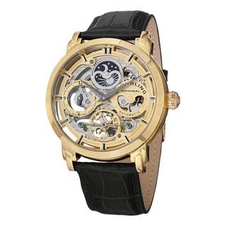 Stuhrling Original Men's Anatol Automatic Leather Strap Watch