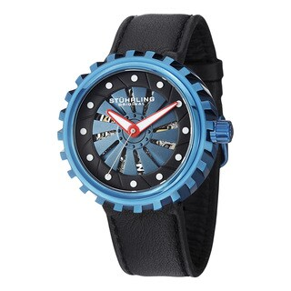 Stuhrling Original Men's Cyclone Automatic Leather Strap Watch