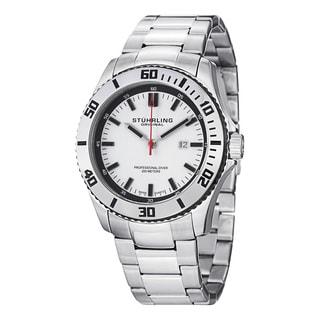 Stuhrling Originals Men's Bermuda Swiss Quartz Stainless Steel Bracelet Watch