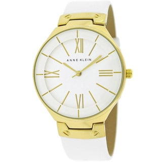 Anne Klein Women's AK-1612WTWT Classic White Leather Watch