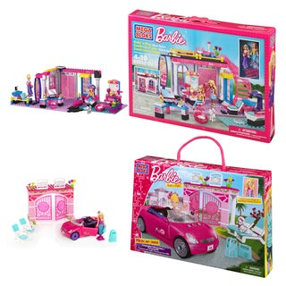 Mega Bloks Barbie Salon and Convertible Playset Combo