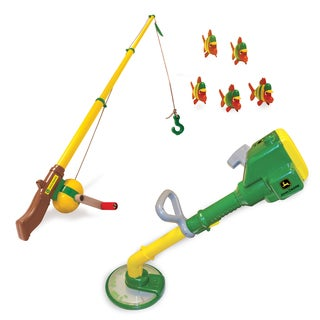 TOMY John Deere Fishing Pole and Yard Trimmer Toy Bundle
