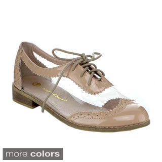 BE INTOUCH STEVIE-2 Women's Lace-up Splicing Oxfords