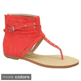 BE INTOUCH JOEY-3 Women's Buckle Ankle High Sandals