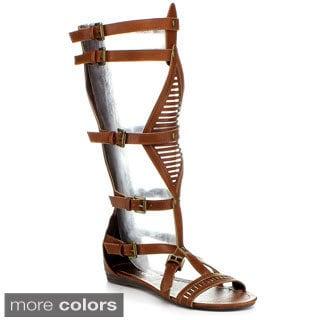 BUMPER LORY89A Women's Buckle Strap Gladiator Sandal