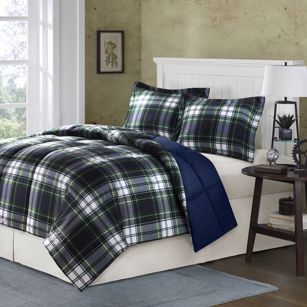 Comfort Classics Hartford Plaid Down Alternative 3-piece Comforter Set