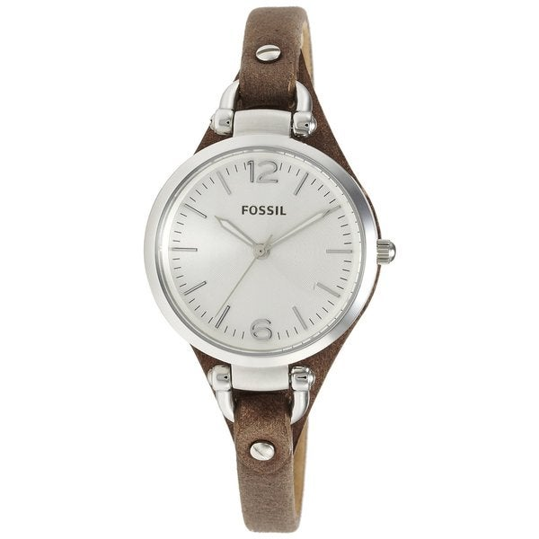 Fossil Women's ES3060 Georgia Three Hand Slim Leather Watch