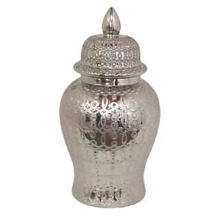 Silver Temple Jar