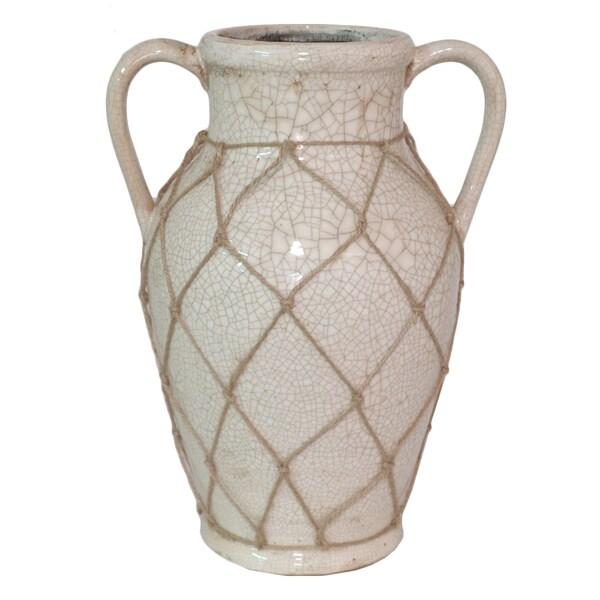 Cream Color Ceramic Vase